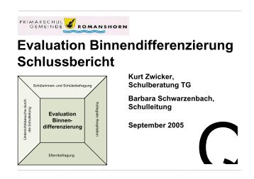 Evaluation Binnendifferenzierung Schlussbericht
