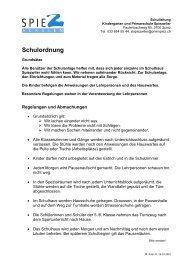 Schulordnung 2010 Spiezwiler - Primarschulen Spiez