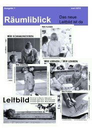 Räumliblick - Primarschulen Spiez