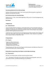 Verordnung Elternrat für Kindergarten und Primarschule Spiez (PDF)