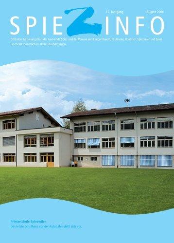 Spiezinfo 2008 - Primarschulen Spiez
