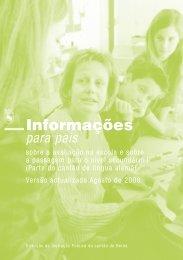nformações para pais - sobre a avaliação na escola e sobre a ...