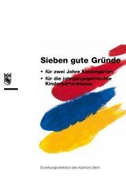 """""""Sieben gute Gründe für zwei Jahre Kindergarten"""" (PDF)"""