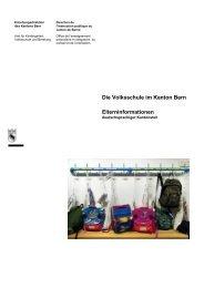 Die Volksschule im Kanton Bern (Deutsch) - Erziehungsdirektion ...