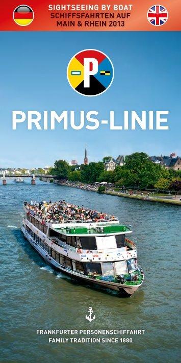 sightseeing by boat schiffsfahrten auf main & rhein 2013 - Primus-Linie