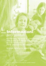 Informazioni per i genitori - Valutazione e decisioni di orientamento ...