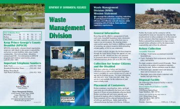Waste Management Division - Prince George's County