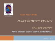 FSC First: Council Presentations - Prince George's County