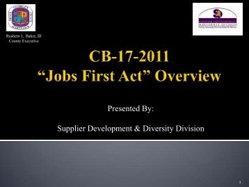 CB-17 Presentation - Prince George's County
