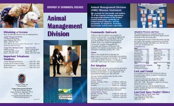 Animal Management Division Animal Management Division