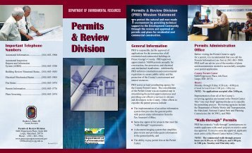 Permits and Review Division - Prince George's County