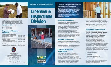 Licenses & Inspections Division - Prince George's County