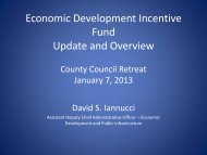 Economic Development Incentive Fund Update and Overview