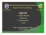Ager Road Presentation - Prince George's County