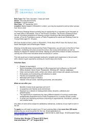 Volunteer Job Description - The Prince's Drawing School