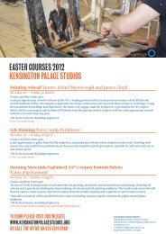 Easter Courses 2012 - The Prince's Drawing School