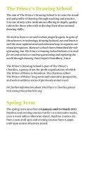 The Prince's Drawing School Spring Term