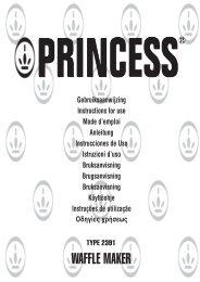 Istruzioni per l'uso - Princess
