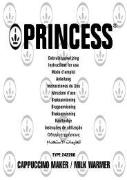 CAPPUCCINO MAKER / MILK WARMER - Princess