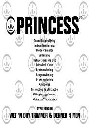 WET 'N DRY TRIMMER & DEFINER 4 MEN - Princess