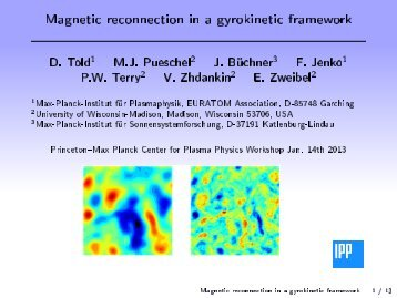D. Told Magnetic reconnection in a gyrokinetic framework