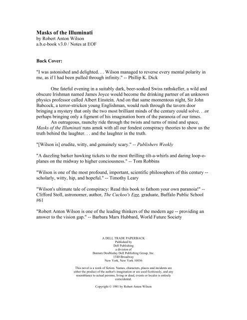 Masks of the Illuminati pdf - Principia Discordia