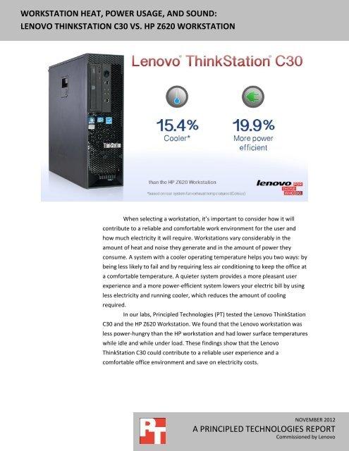Lenovo ThinkStation C30 vs  HP Z620 workstation - Principled