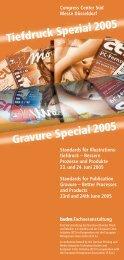 Tiefdruck Spezial 2005 Gravure Special 2005 - Print & Media Forum AG