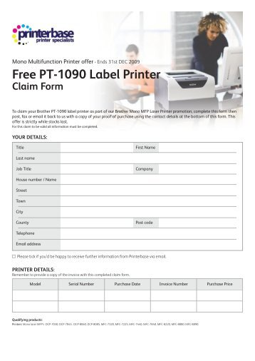 Free Acer Netbook Claim Form  Printerbase