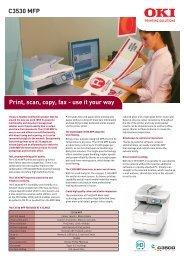 C3530 MFP Print, scan, copy, fax - use it your way - Printerbase