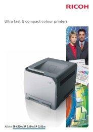 Ricoh Aficio SPC220N Brochure - Printerbase