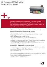 HP Photosmart 2575 All-in-One Printer, Scanner, Copier - Printware