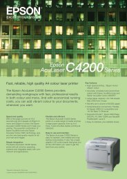 Fast, reliable, high quality A4 colour laser printer - Epson Europe