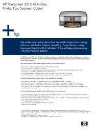 HP Photosmart 3310 All-in-One Printer, Fax, Scanner ... - Printware