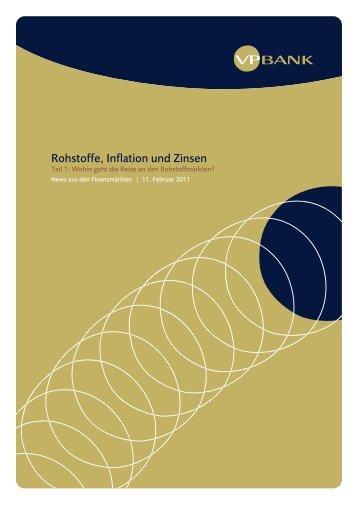 Rohstoffe, Inflation und Zinsen (PDF, 107 KB) - VP Bank