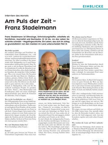 Am Puls der Zeit -- Franz Stadelmann - Priori