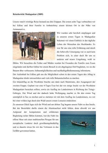 Reisebericht Madagaskar - Priori