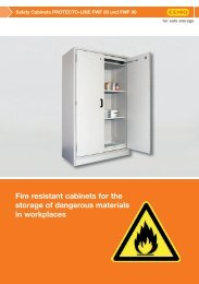 Fire resistant cabinets for the storage of dangerous materials in ...
