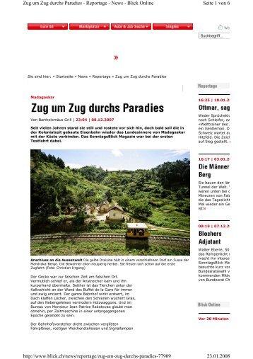 Zu G Um Zug Durchs Paradies - Priori