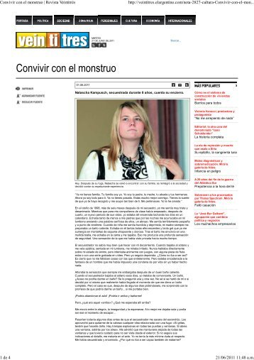 1-6-2011 Revista Veintitres - Prisa Ediciones