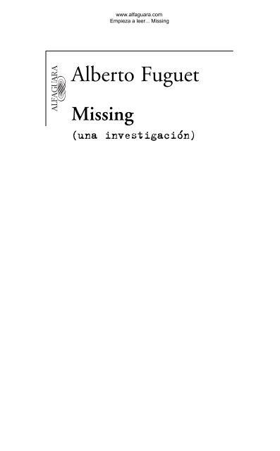Primeras páginas de Missing - Prisa Ediciones