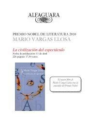 Dossier de prensa La civilización del espectáculo - Alfaguara