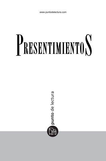 Primeras páginas de 'Presentimientos' - Prisa Ediciones