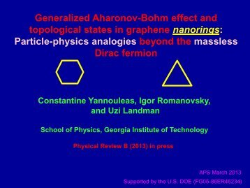 to see the slides of the talk - Prism Web Pages - Georgia Institute of ...