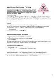 Die richtigen Schritte zur Planung - Prisma Fachhandels AG