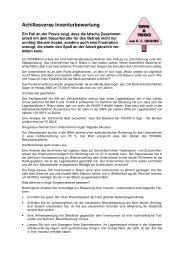 Achillesverse Inventurbewertung - Prisma Fachhandels AG