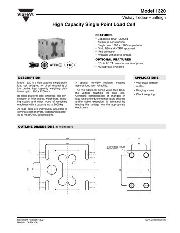 Model 1320 High Capacity Single Point Load Cell