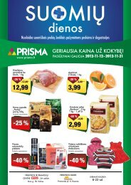 dienos - Prisma