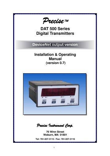 DAT 500 DeviceNet manual 0