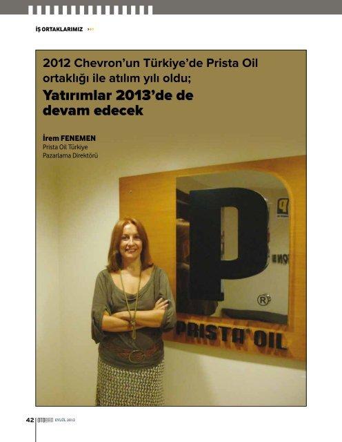 Yatırımlar 2013'de de devam edecek - Prista Oil